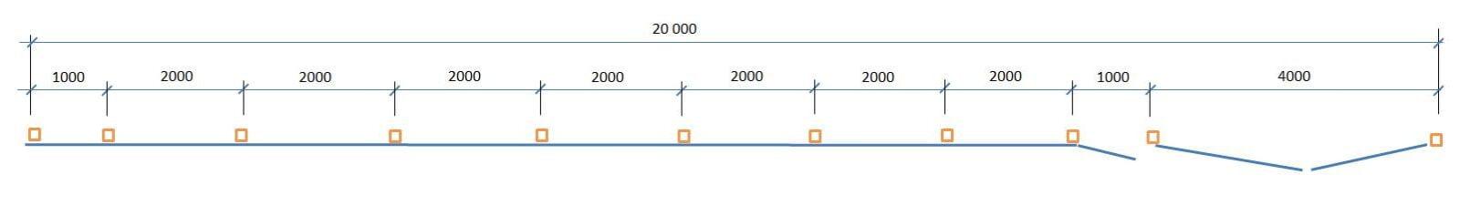 Схема установки столбов забора из трубы 60*60