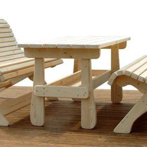 Стол со скамьями 2